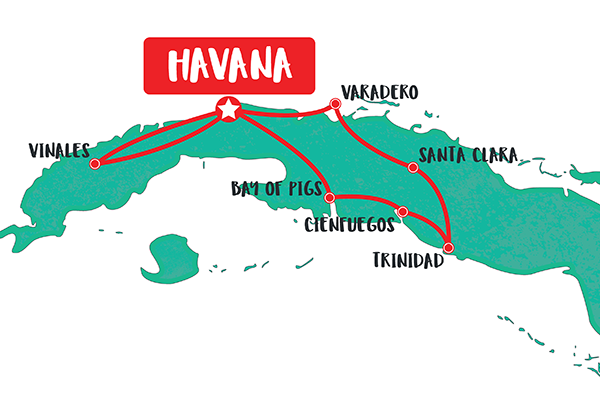 10-day-private-cuba-tour-map