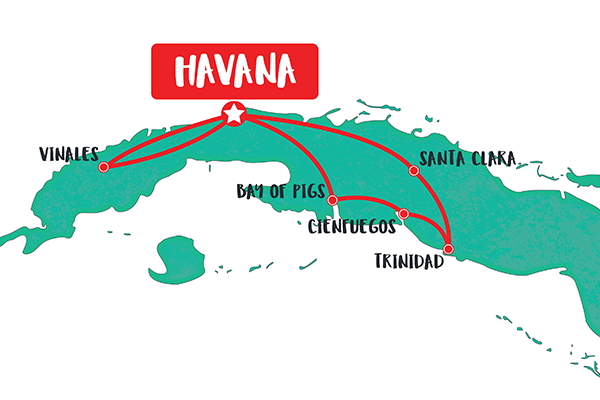 8-day-private-cuba-tour-map