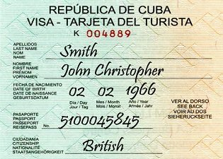what countries need a visa to enter cuba